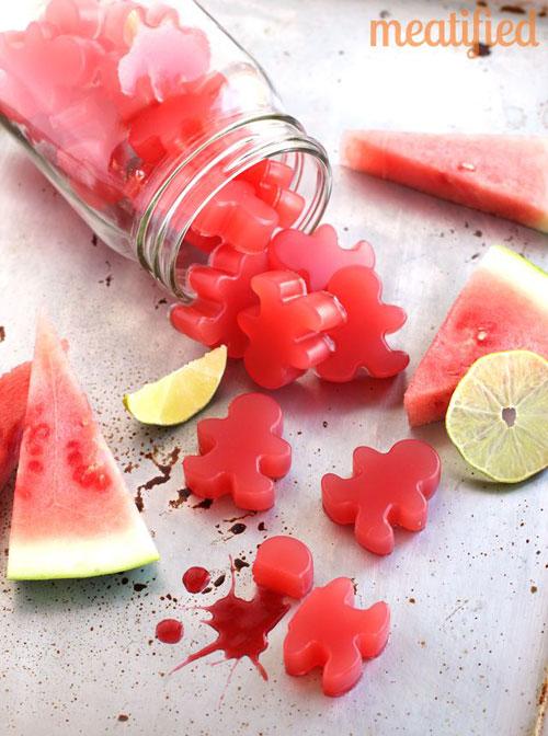 50+ Best Recipes for Fresh Watermelon - Sour Watermelon Homemade Gummies