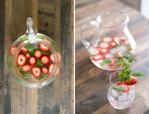 50+ Best Recipes for Fresh Strawberries - Strawberry Infused Water
