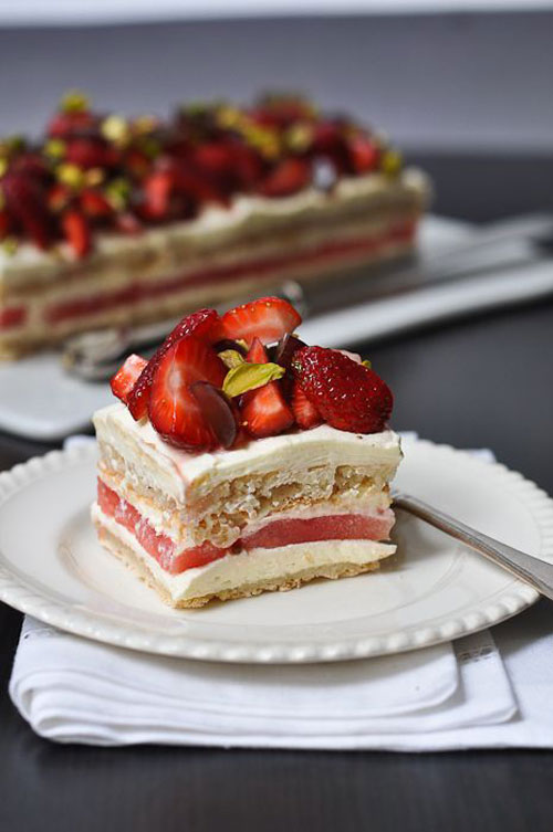 50+ Best Recipes for Fresh Watermelon - Strawberry and Watermelon Cake