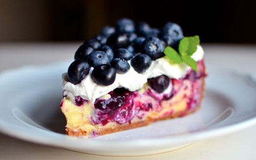 50+ Best Recipes for Fresh Blueberries - White Chocolate Blueberry Cheesecake