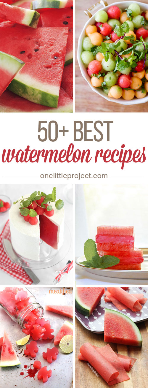 50+ Best Watermelon Recipes -  I had no idea there were so many things you could make with watermelon!  This list has sweet desserts, savoury salads, and simple snacks. They look DELICIOUS!