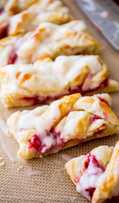 50+ Best Recipes for Fresh Raspberries - Homemade Raspberry Danish