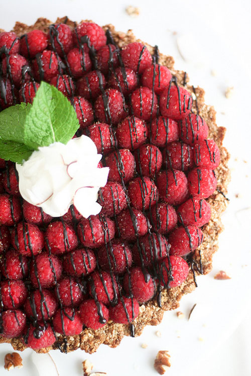 50+ Best Recipes for Fresh Raspberries - Raspberry Chocolate Pie