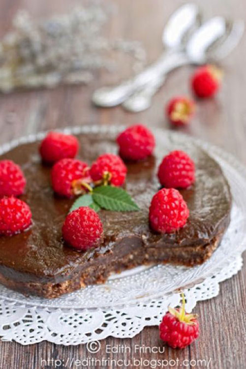 50+ Best Recipes for Fresh Raspberries - Raspberry Chocolate Tart