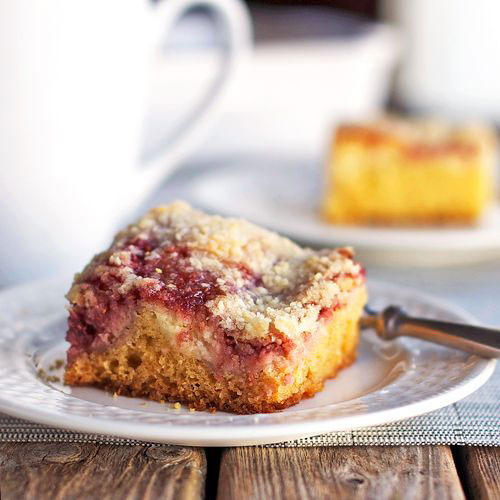 50+ Best Recipes for Fresh Raspberries - Raspberry Cream Cheese Coffee Cake