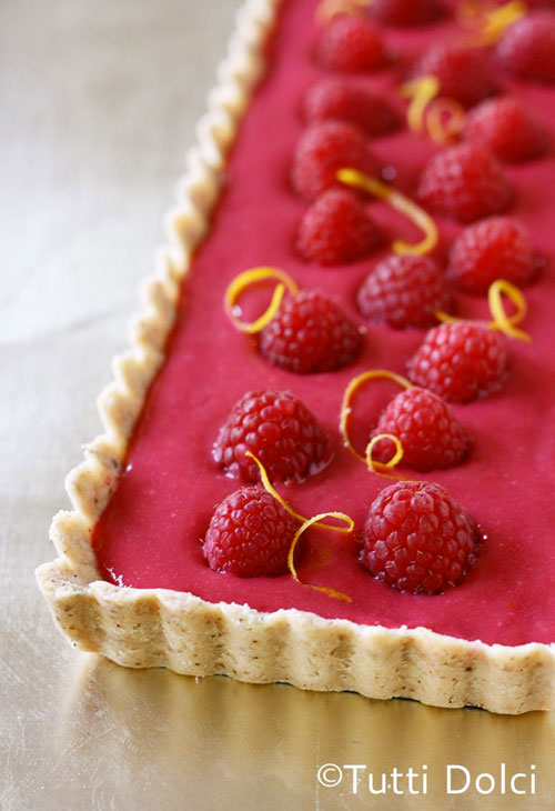 50+ Best Recipes for Fresh Raspberries - Raspberry Curd Tart
