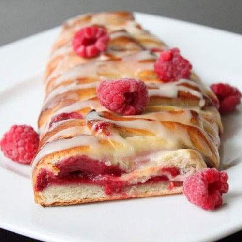 50+ Best Recipes for Fresh Raspberries - Raspberry Pastry Braid