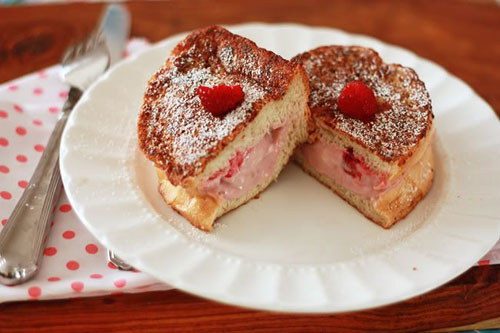50+ Best Recipes for Fresh Raspberries - Raspberry Stuffed French Toast
