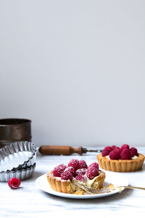 50+ Best Recipes for Fresh Raspberries - Raspberry Tarts with Almond Crust