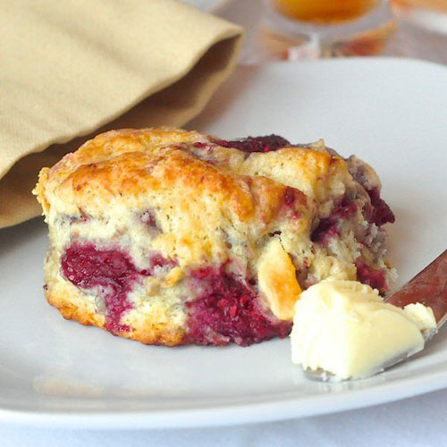 50+ Best Recipes for Fresh Raspberries - Raspberry White Chocolate Scones