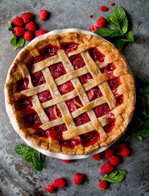 50+ Best Recipes for Fresh Raspberries - Red Raspberry Pie