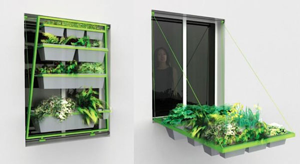 15 Unusual Vegetable Garden Ideas - Retracting window garden
