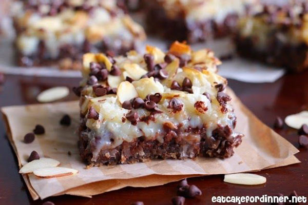 50+ Best Squares and Bars Recipes - Almond Joy Magic Cookie Bars