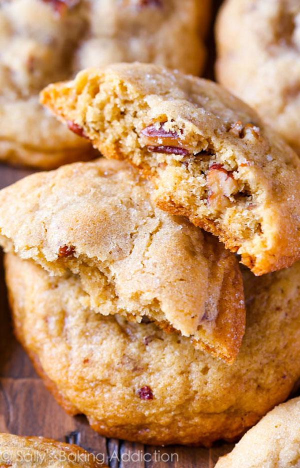 50+ Best Cookie Recipes - Butter Pecan Cookies