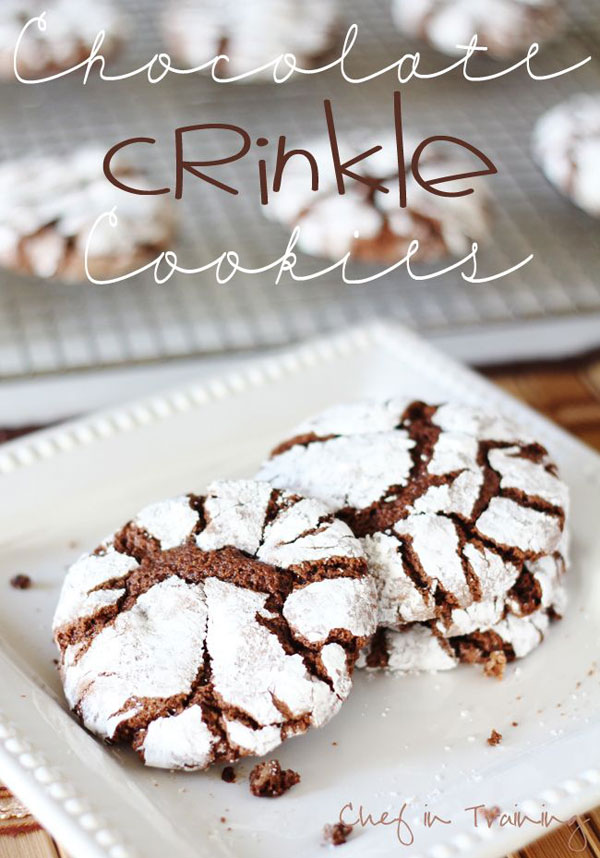 50+ Best Cookie Recipes - Chocolate Crinkle Cookies