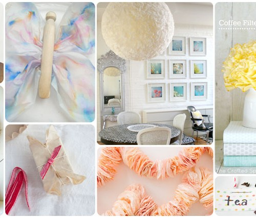 20 Beautiful Coffee Filter Crafts