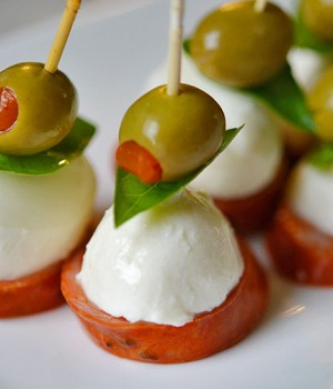 Bocconcini Cheese Antipasto Skewers