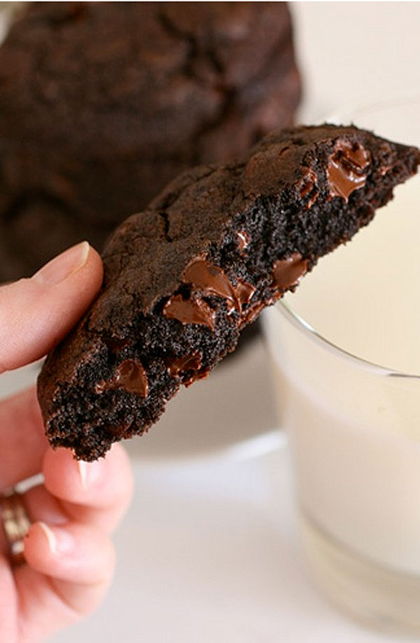50+ Best Cookie Recipes - Double Chocolate Cookies