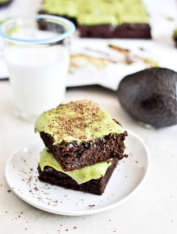 50+ Best Squares and Bars Recipes - Fudgy Avocado Brownies