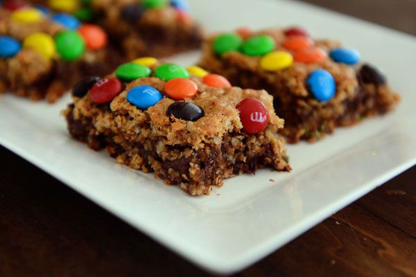 50+ Best Squares and Bars Recipes - Monster Cookie Bars