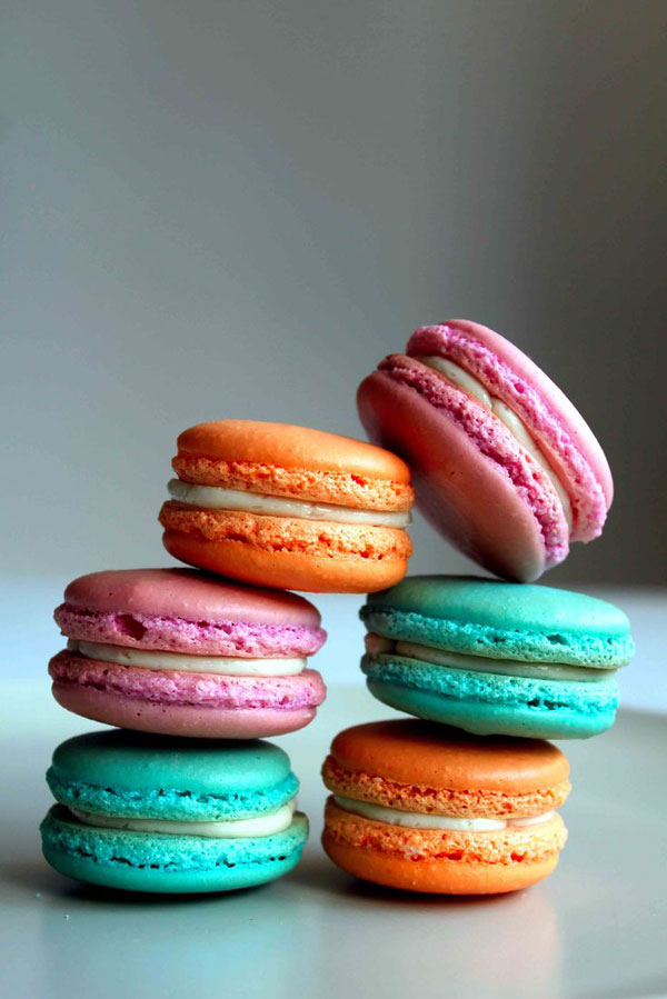 50+ Best Cookie Recipes - Multi Colored Macarons