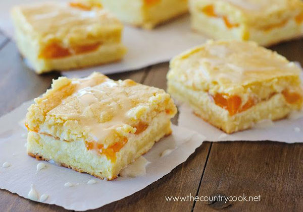 50+ Best Squares and Bars Recipes - Peaches and Cream Bars