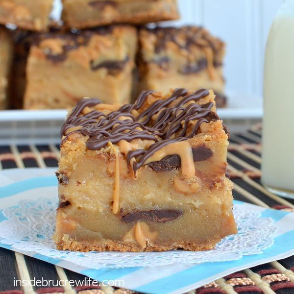 50+ Best Squares and Bars Recipes - Peanut Butter Cheesecake Cookie Bars