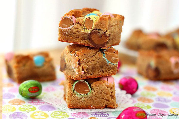 50+ Best Squares and Bars Recipes - Peanut Butter Cookie bars with Reese's