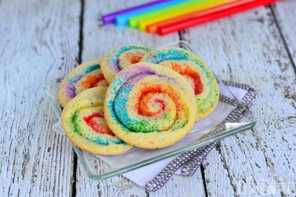 50+ Best Cookie Recipes - Rainbow Pinwheel Cookies