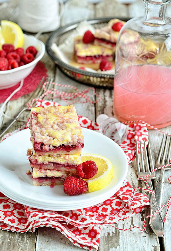 50+ Best Squares and Bars Recipes - Raspberry Lemonade Bars