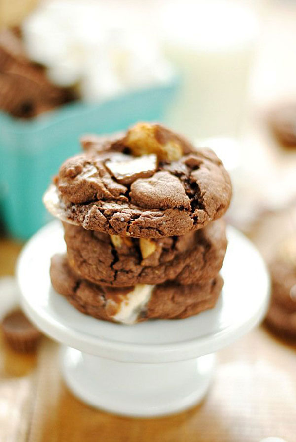 50+ Best Cookie Recipes - Reese's S'mores Cookies