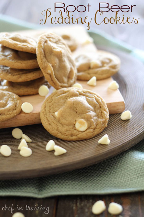 50+ Best Cookie Recipes - Root Beer Pudding Cookies