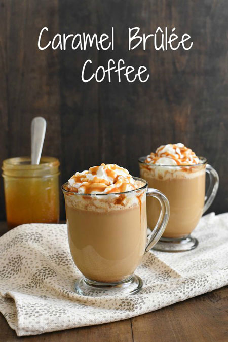 50+ Homemade Starbucks Recipes - Caramel Brulee Coffee