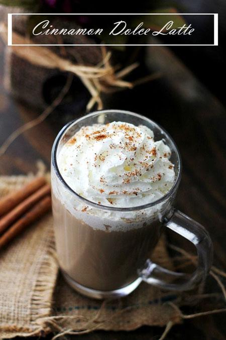 50+ Homemade Starbucks Recipes - Cinnamon Dolce Latte