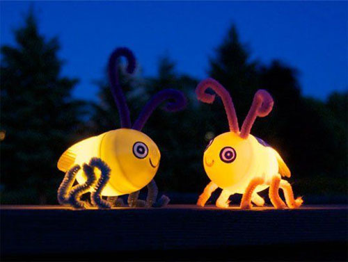 50+ Glow Stick Ideas - DIY Fireflies