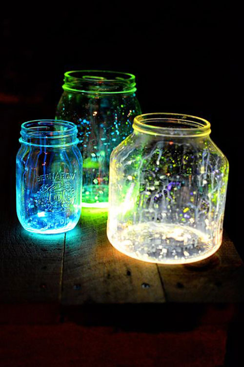 50+ Glow Stick Ideas - DIY Glow Jars