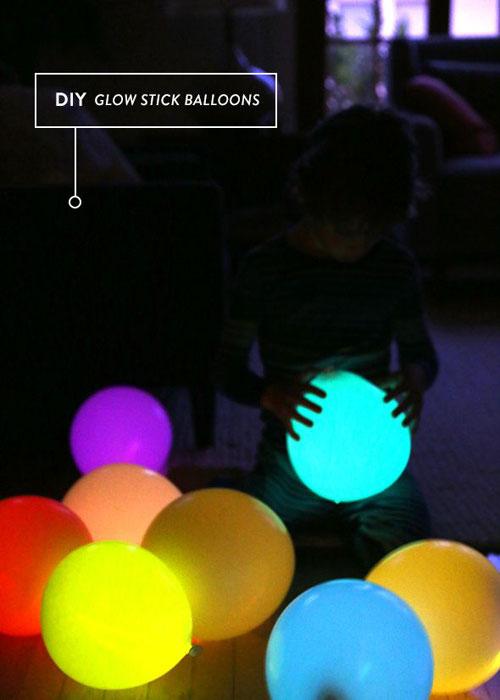 50+ Glow Stick Ideas - DIY Glow Stick Balloons