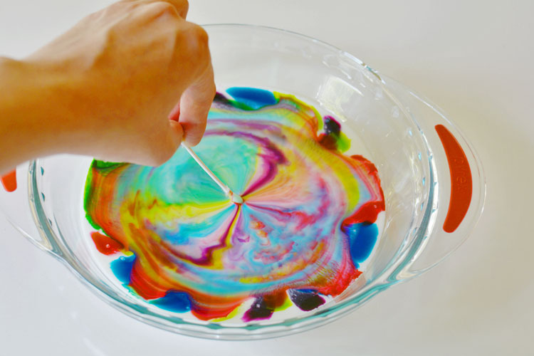 This color changing milk experiment was MESMERIZING! All of the colors danced, and swirled, and chased each other into amazing patterns.
