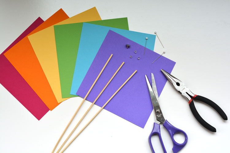 Paper Pinwheel Supplies