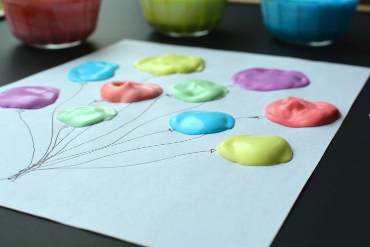 Homemade Puffy Paint Texture