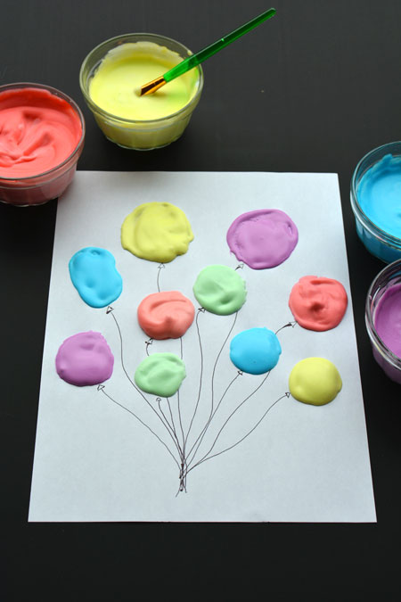 Homemade Puffy Paint Balloons