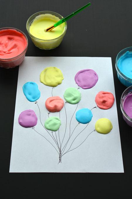 Homemade Puffy Paint Balloons