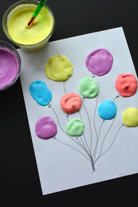 Puffy Paint Balloons