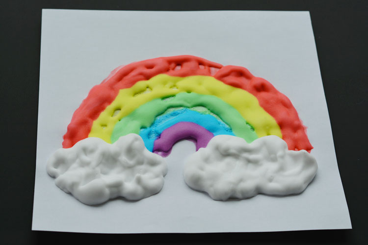 Homemade Puffy Paint Rainbow