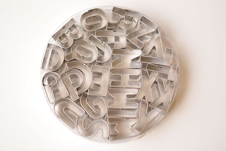 Mini Alphabet Cookie Cutters