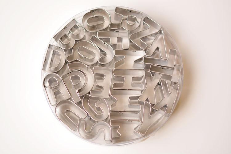 Mini Alphabet Cookie Cutters