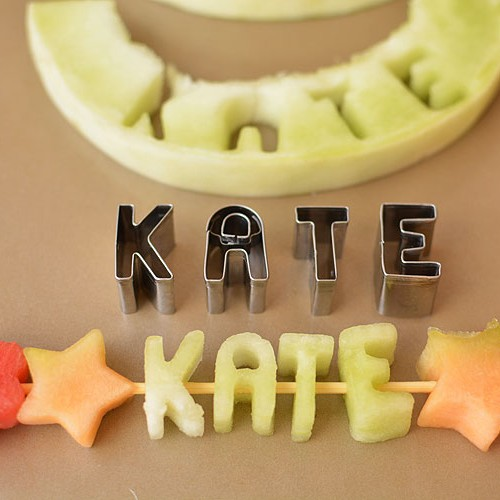 Mini Alphabet Melon Skewers