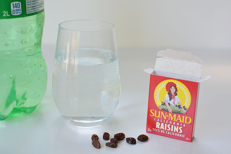 This dancing raisins experiment is so easy! And it really works! Check out the video!