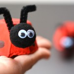 Easy Egg Carton Ladybugs
