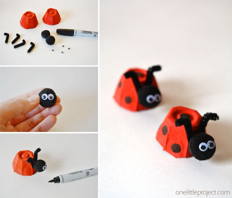 Egg Carton Crafts Part - 43: These Egg Carton Ladybugs Are Such A Fun And Easy Craft For Kids! And They